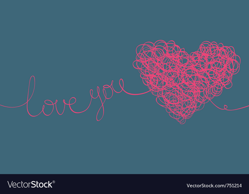 Love you background vector | Price: 1 Credit (USD $1)