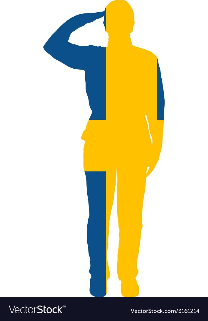 Swedish salute vector | Price: 1 Credit (USD $1)