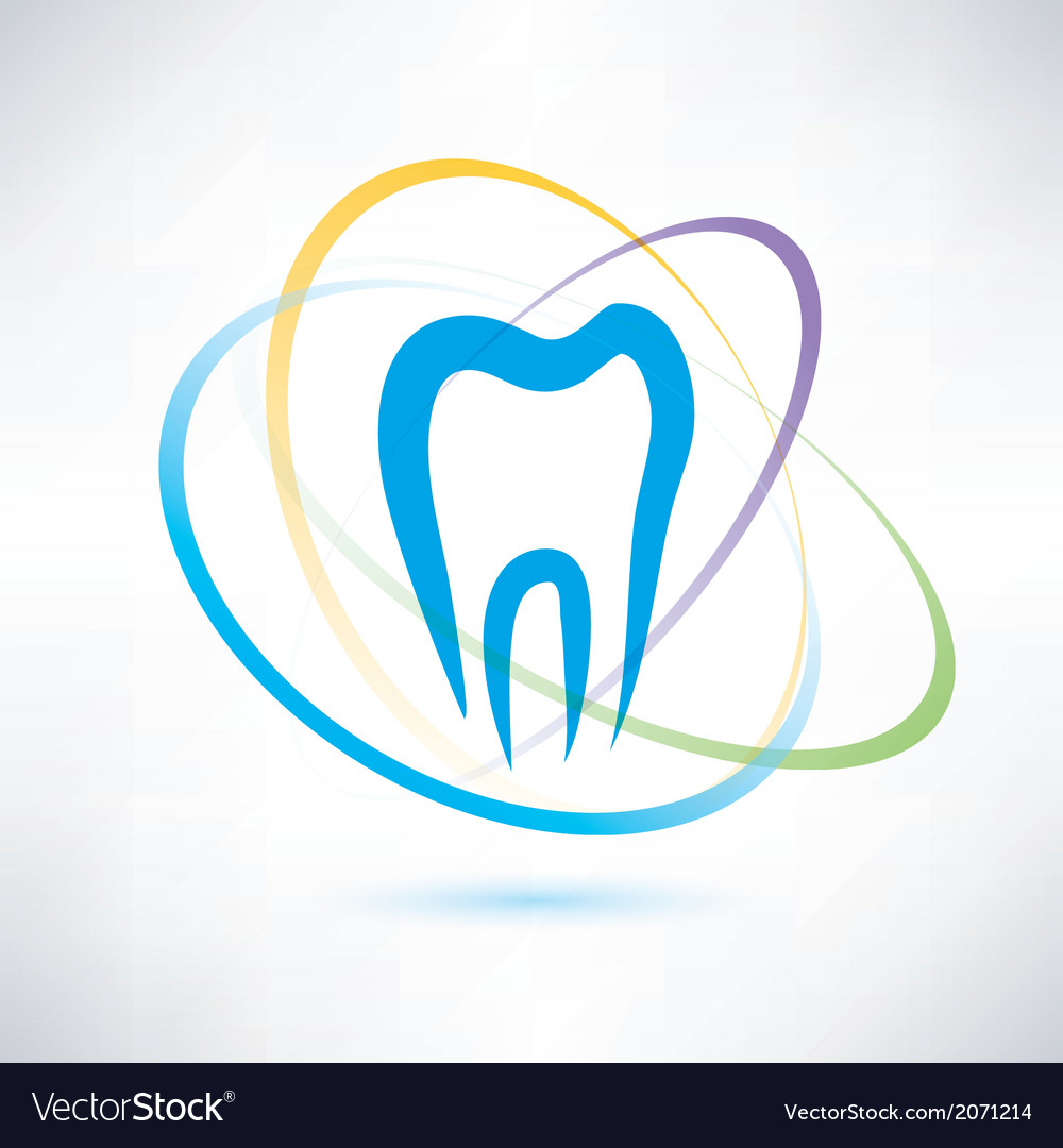 Tooth protection abstract symbol vector | Price: 1 Credit (USD $1)