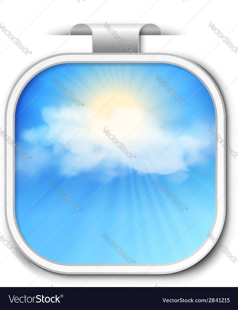 Abstract sky sticker vector | Price: 1 Credit (USD $1)