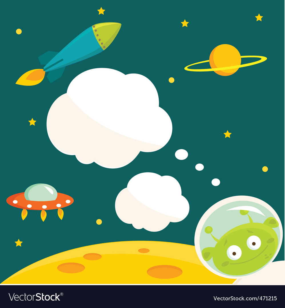 Alien animation vector | Price: 1 Credit (USD $1)