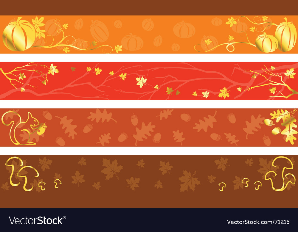 Autumn banners in warm colors vector | Price: 1 Credit (USD $1)