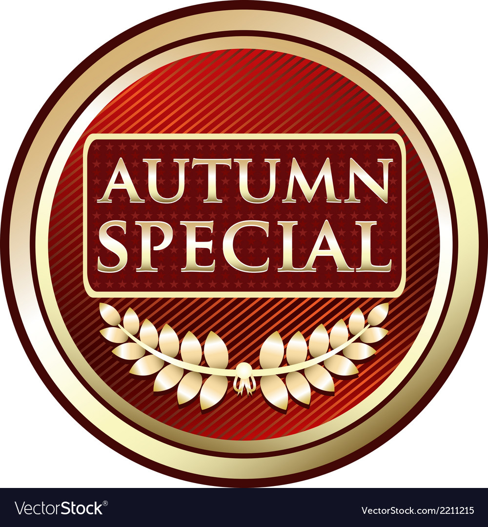 Autumn special red label vector | Price: 1 Credit (USD $1)