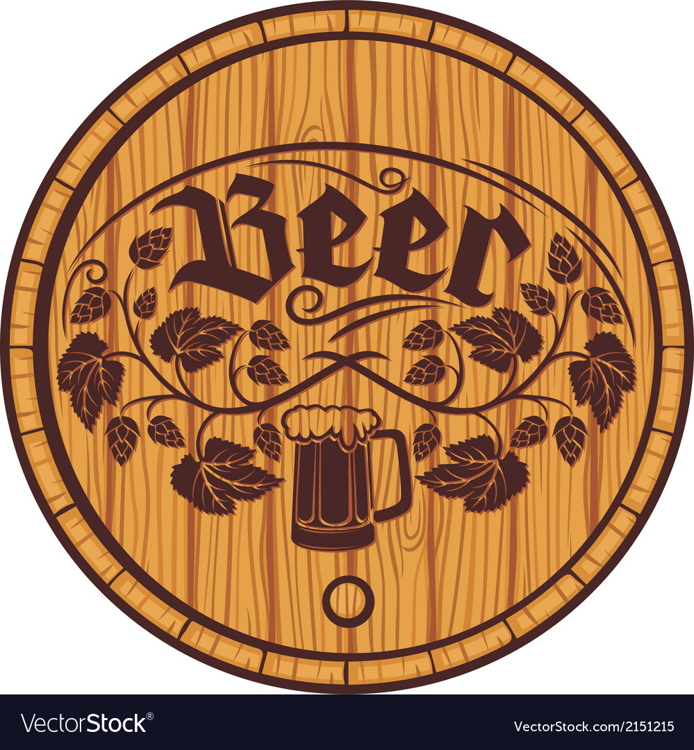 Barrel of beer wooden barrel for beer vector | Price: 1 Credit (USD $1)