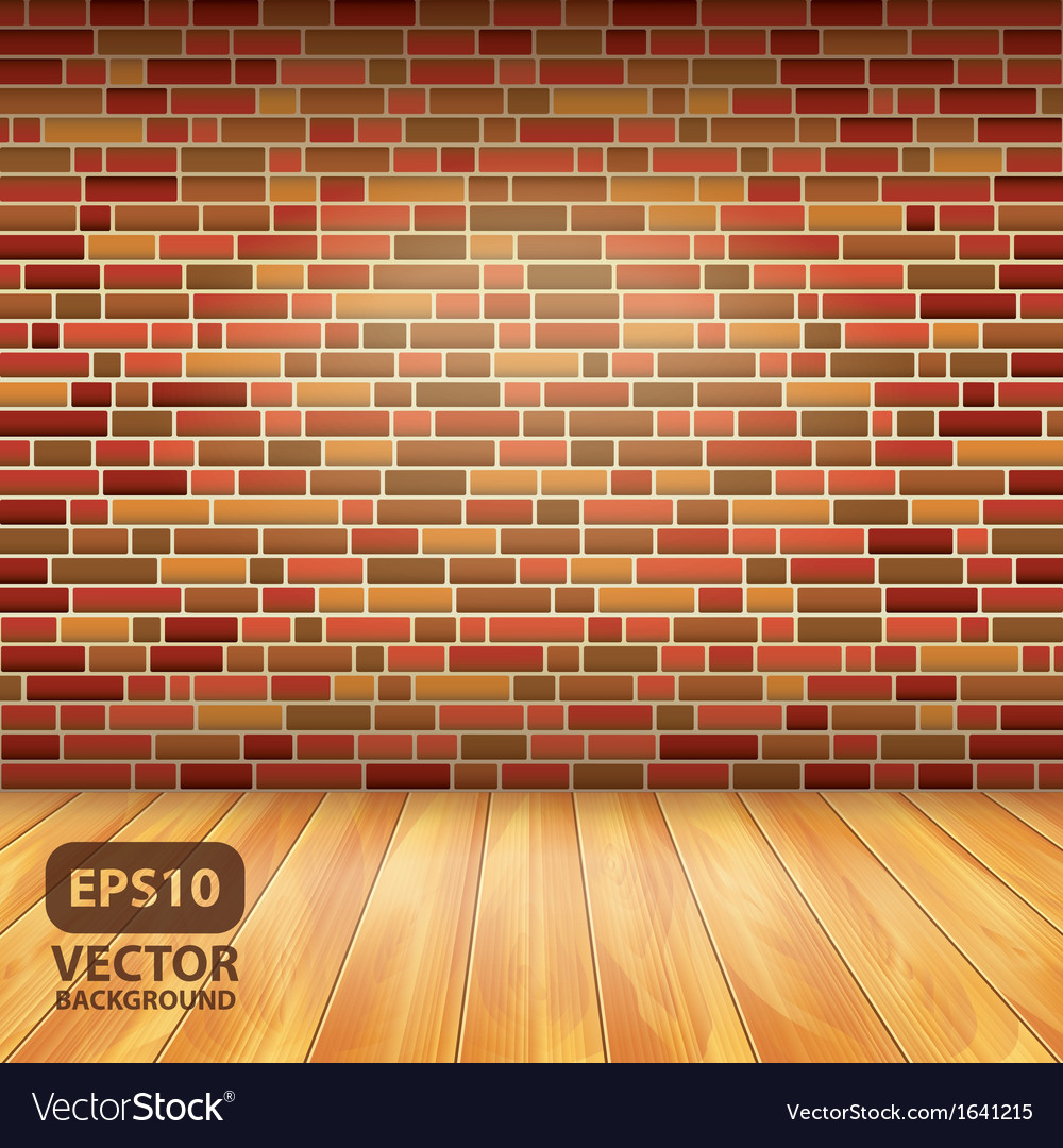 Brick wall wood floor vector | Price: 1 Credit (USD $1)