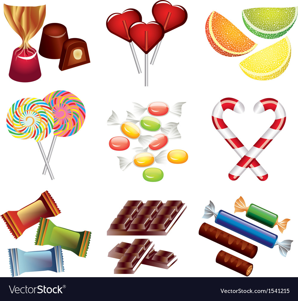 Candy set vector | Price: 3 Credit (USD $3)
