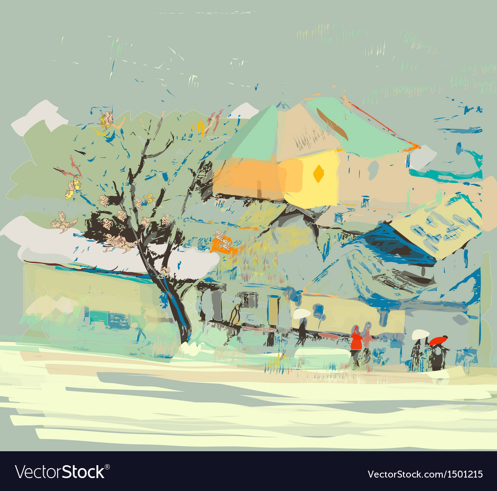 City scape vector | Price: 3 Credit (USD $3)