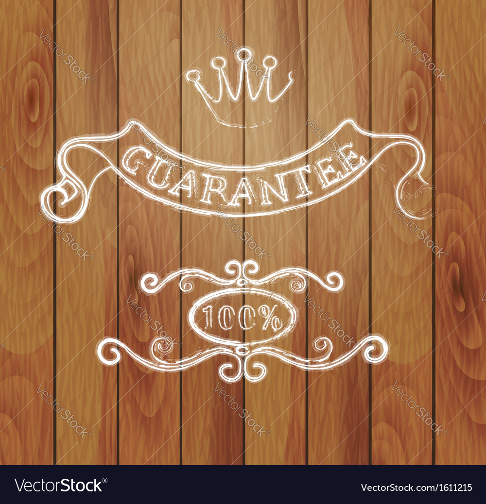 Design elements and a wooden background vector | Price: 1 Credit (USD $1)