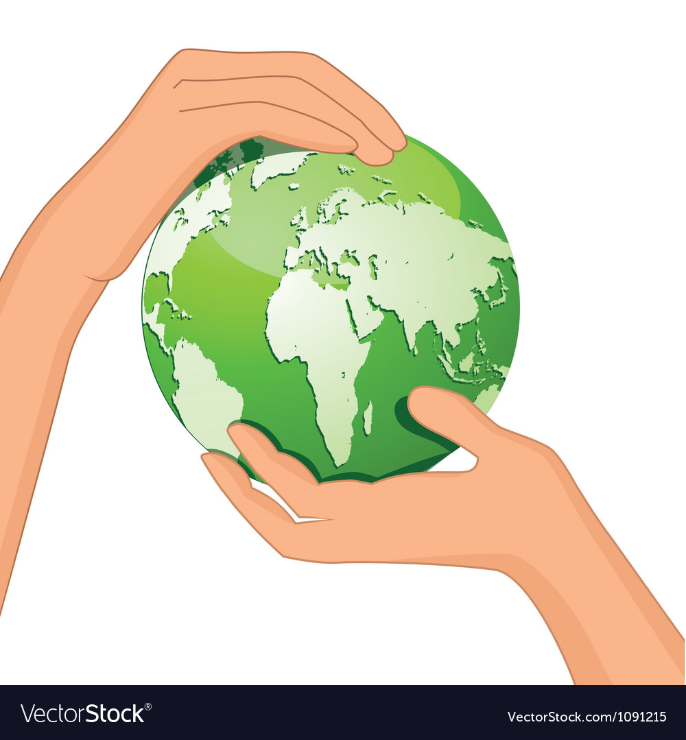 Encourage hands save planet vector | Price: 1 Credit (USD $1)