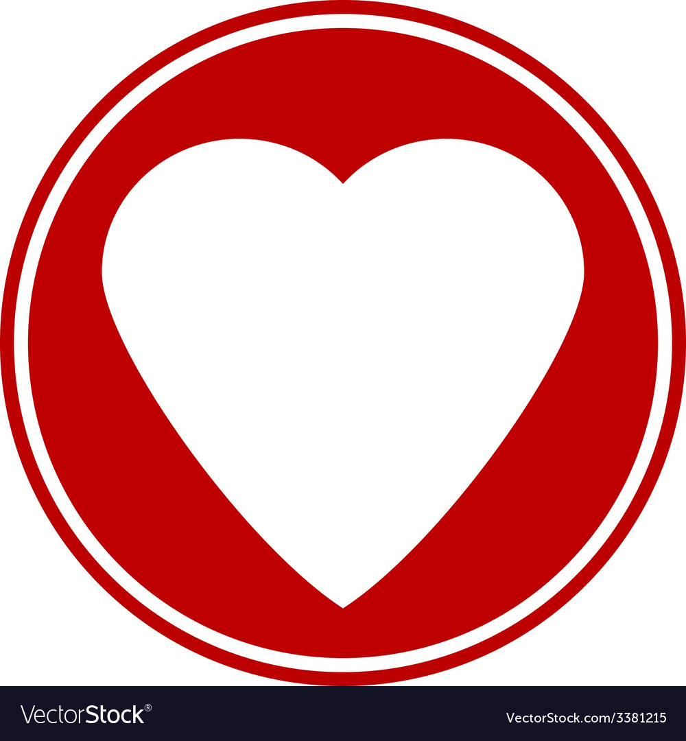Love sign button isolated vector | Price: 1 Credit (USD $1)