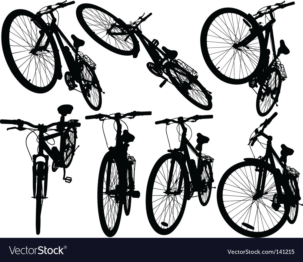 Mountain bikes vector | Price: 1 Credit (USD $1)