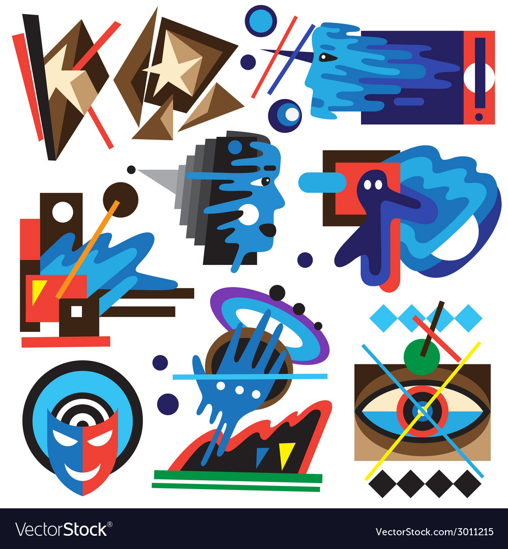 Psychology - abstract symbols vector | Price: 1 Credit (USD $1)