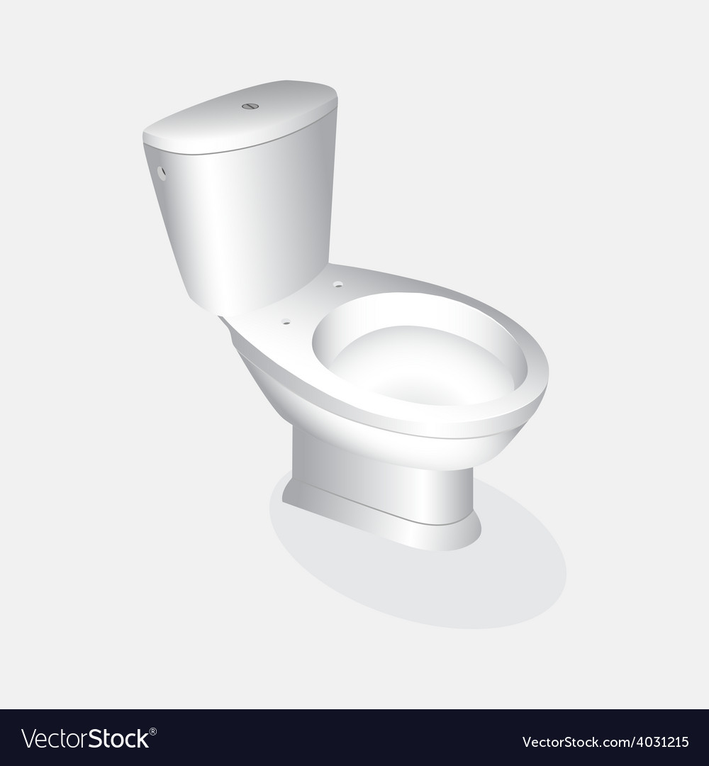 Toilet bowl realistic vector | Price: 1 Credit (USD $1)