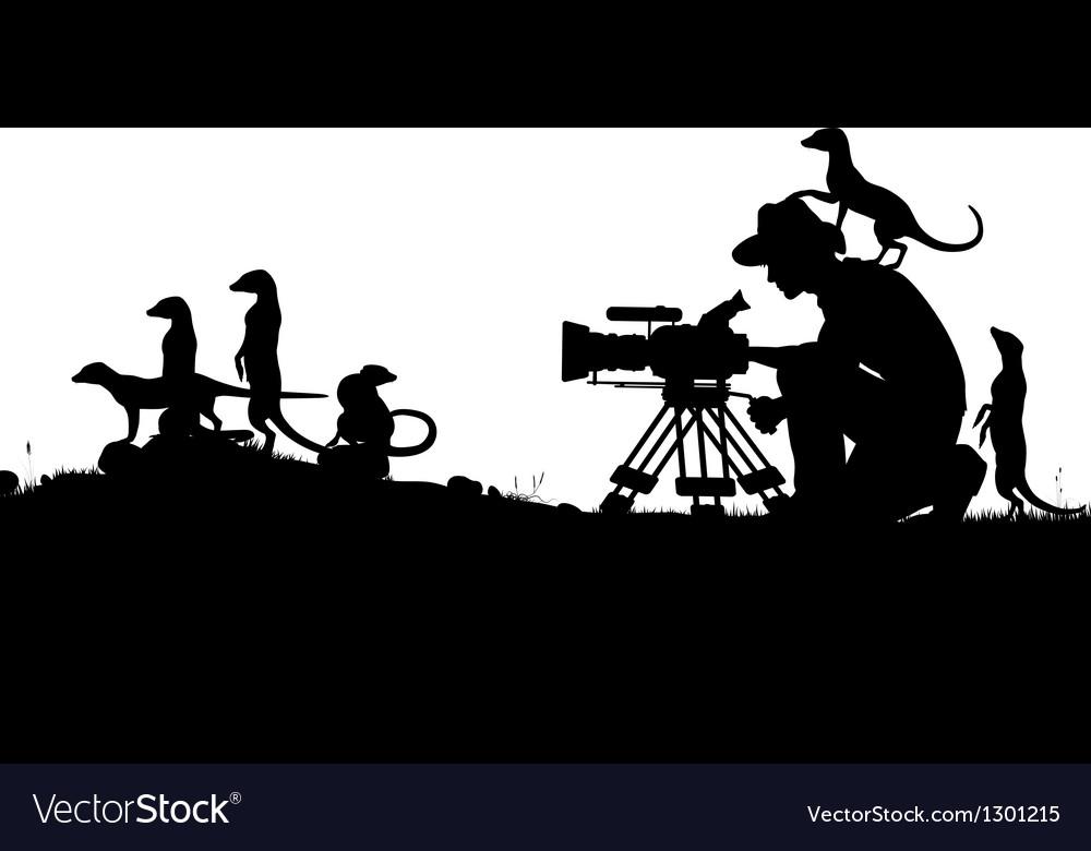 Wildlife cameraman vector | Price: 1 Credit (USD $1)
