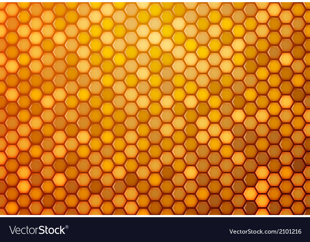 Abstract background from hexagons vector | Price: 1 Credit (USD $1)