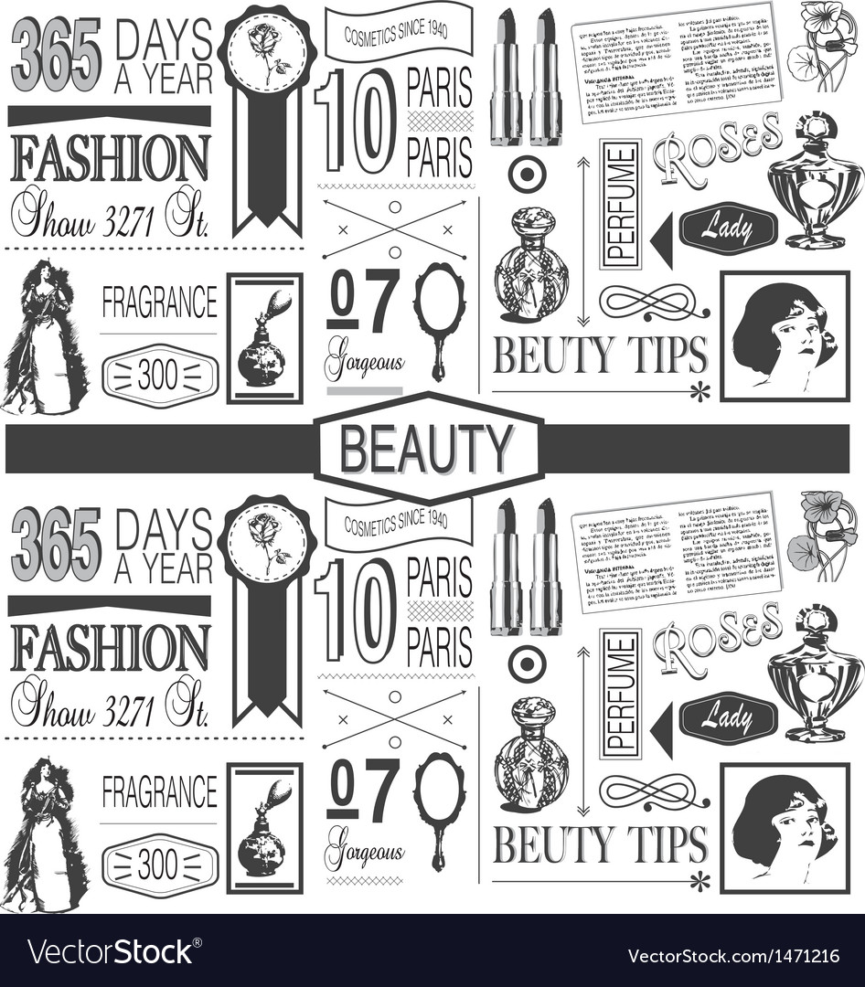 Beauty paper pattern vector | Price: 1 Credit (USD $1)