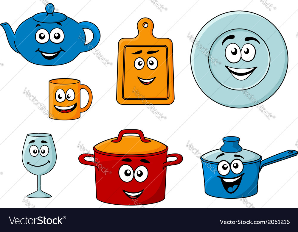 Collection of cartoon kitchenware vector | Price: 1 Credit (USD $1)