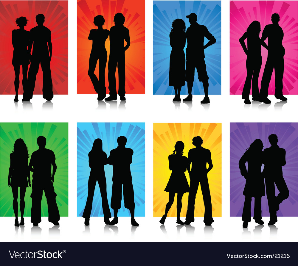 Couples vector | Price: 1 Credit (USD $1)