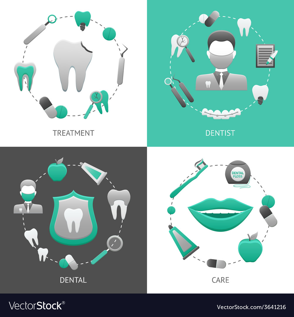 Dental design concept vector | Price: 1 Credit (USD $1)