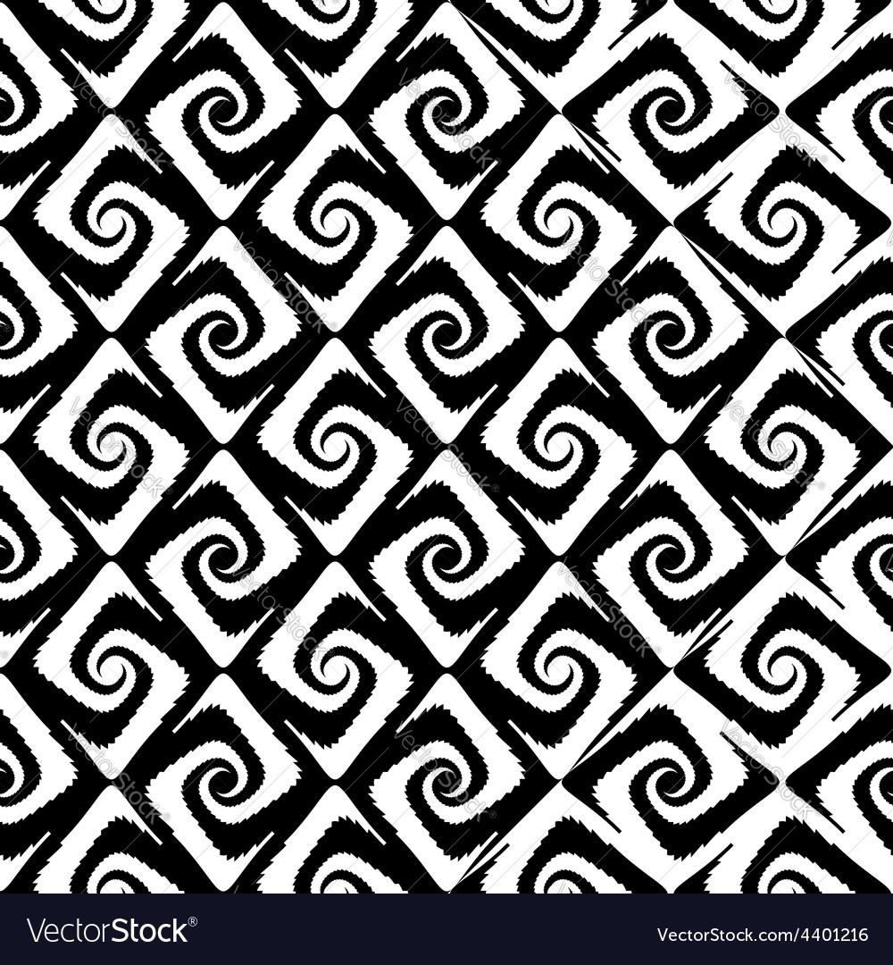 Design seamless monochrome spiral movement pattern vector | Price: 1 Credit (USD $1)
