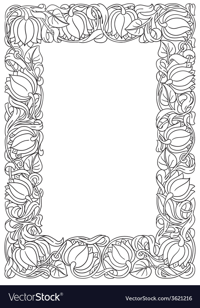 Flower frame retro vintage gothic style vintage vector | Price: 1 Credit (USD $1)
