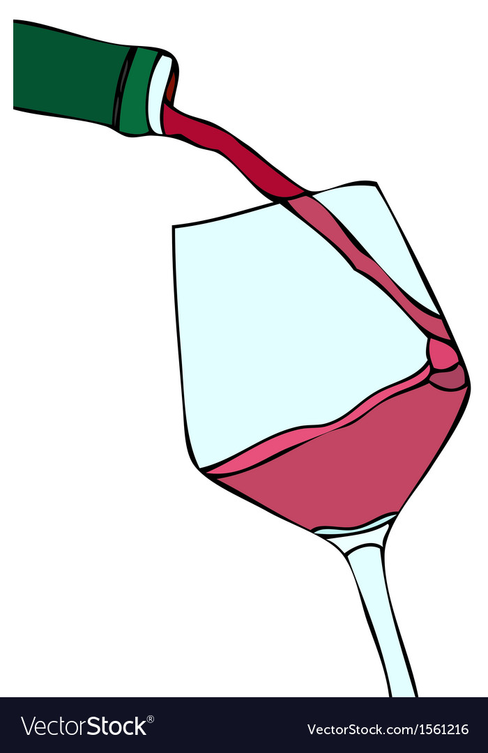 Glass of red wine vector   Price: 1 Credit (USD $1)