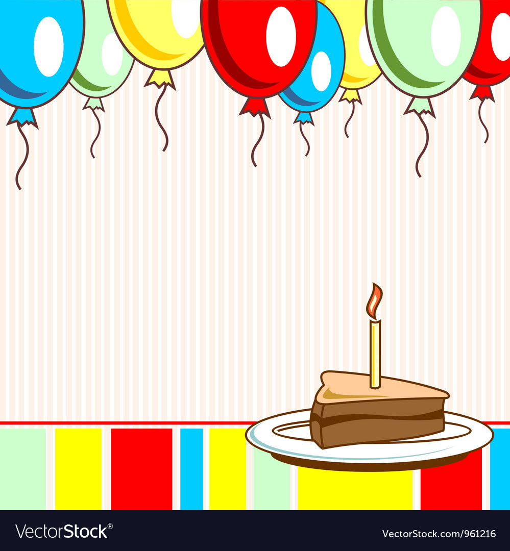 Image holiday birthday cake vector | Price: 1 Credit (USD $1)