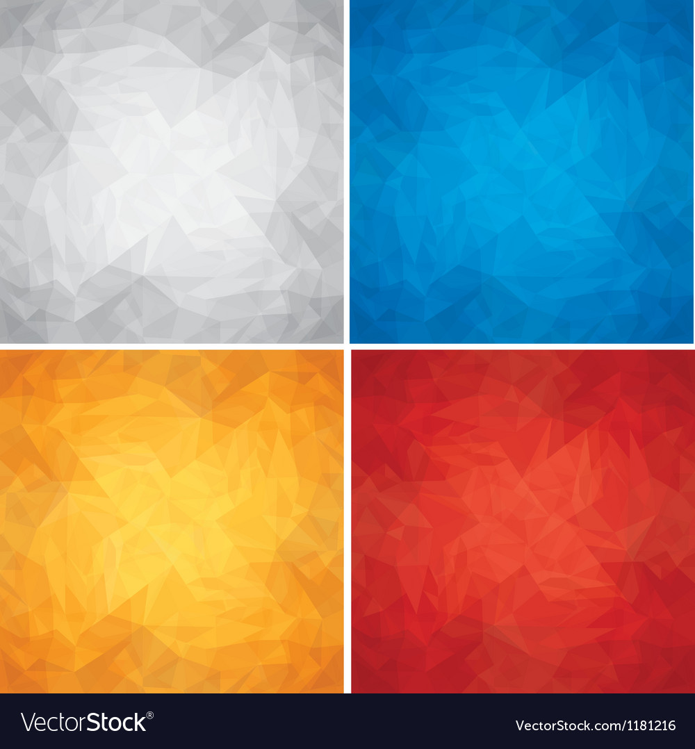 Set of crumpled colored paper textures vector | Price: 1 Credit (USD $1)