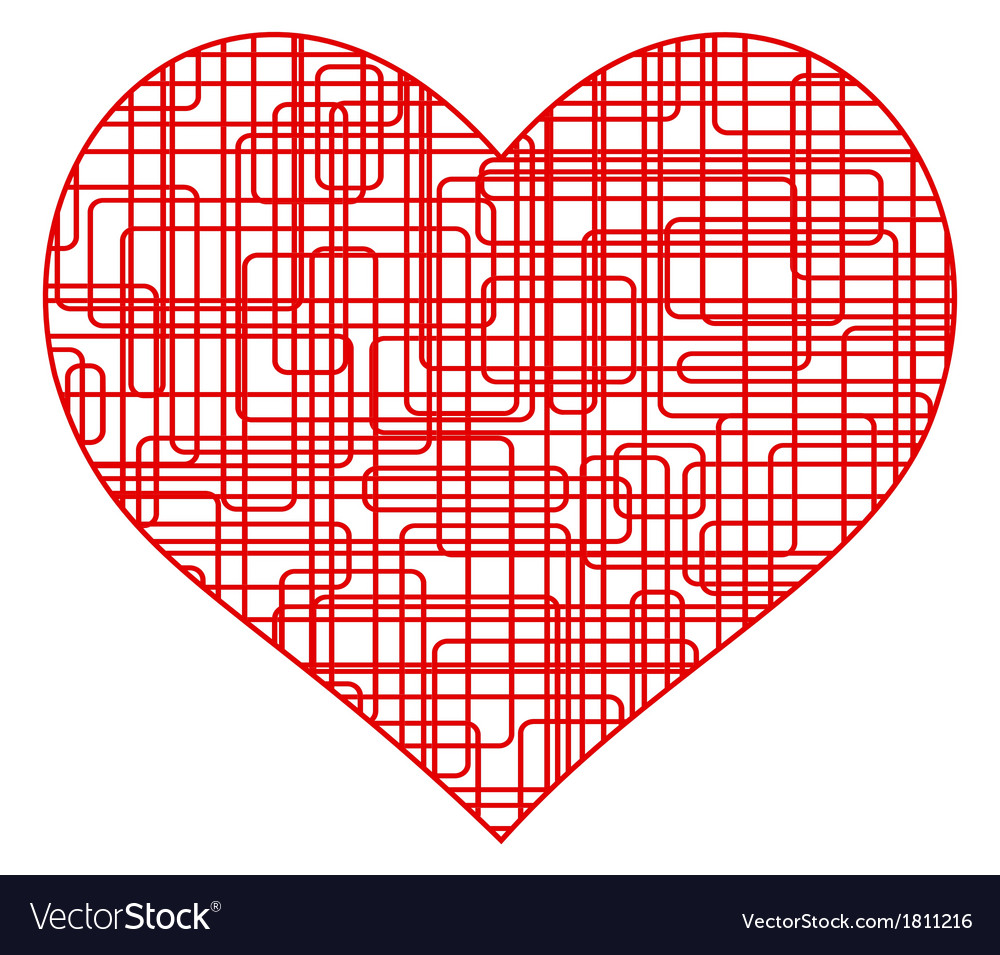 Wire heart vector | Price: 1 Credit (USD $1)