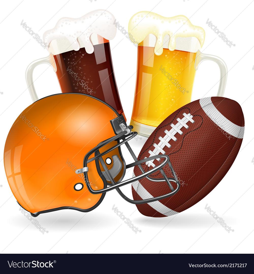 American football poster vector | Price: 1 Credit (USD $1)