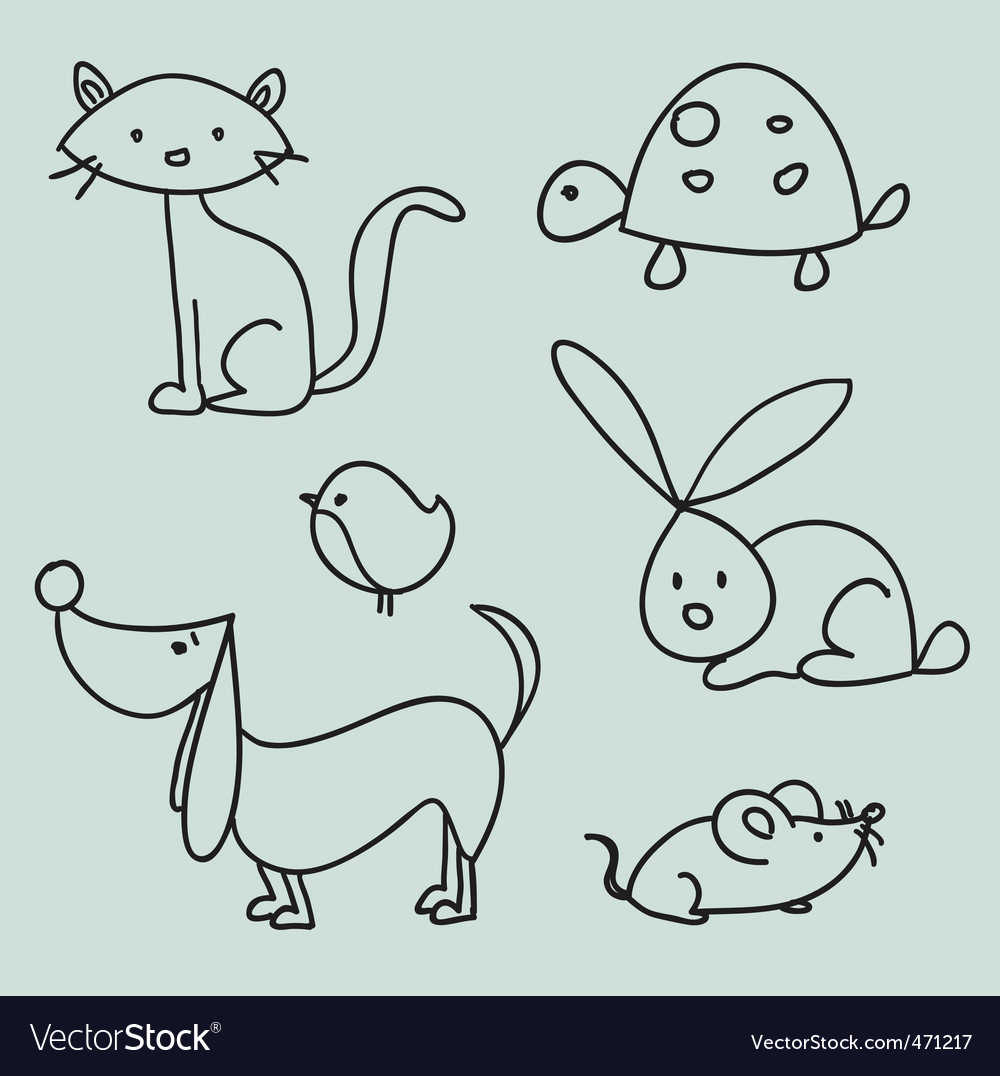 Animal drawings vector | Price: 1 Credit (USD $1)