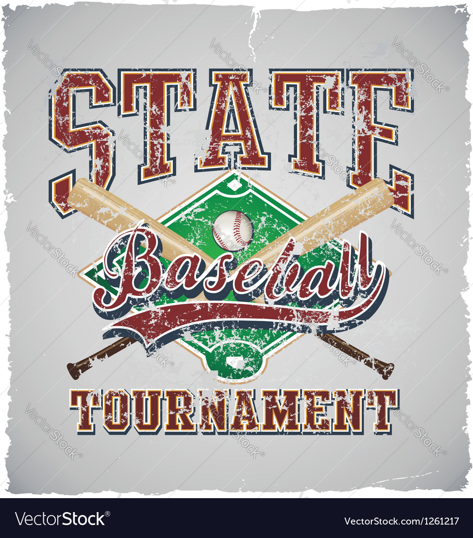 Baseball state tournament vector | Price: 1 Credit (USD $1)