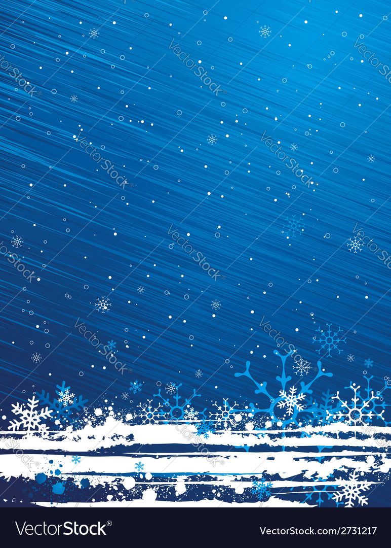 Blue grunge christmas background vector | Price: 1 Credit (USD $1)