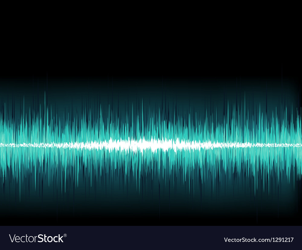Blue sound wave on white background  eps8 vector | Price: 1 Credit (USD $1)