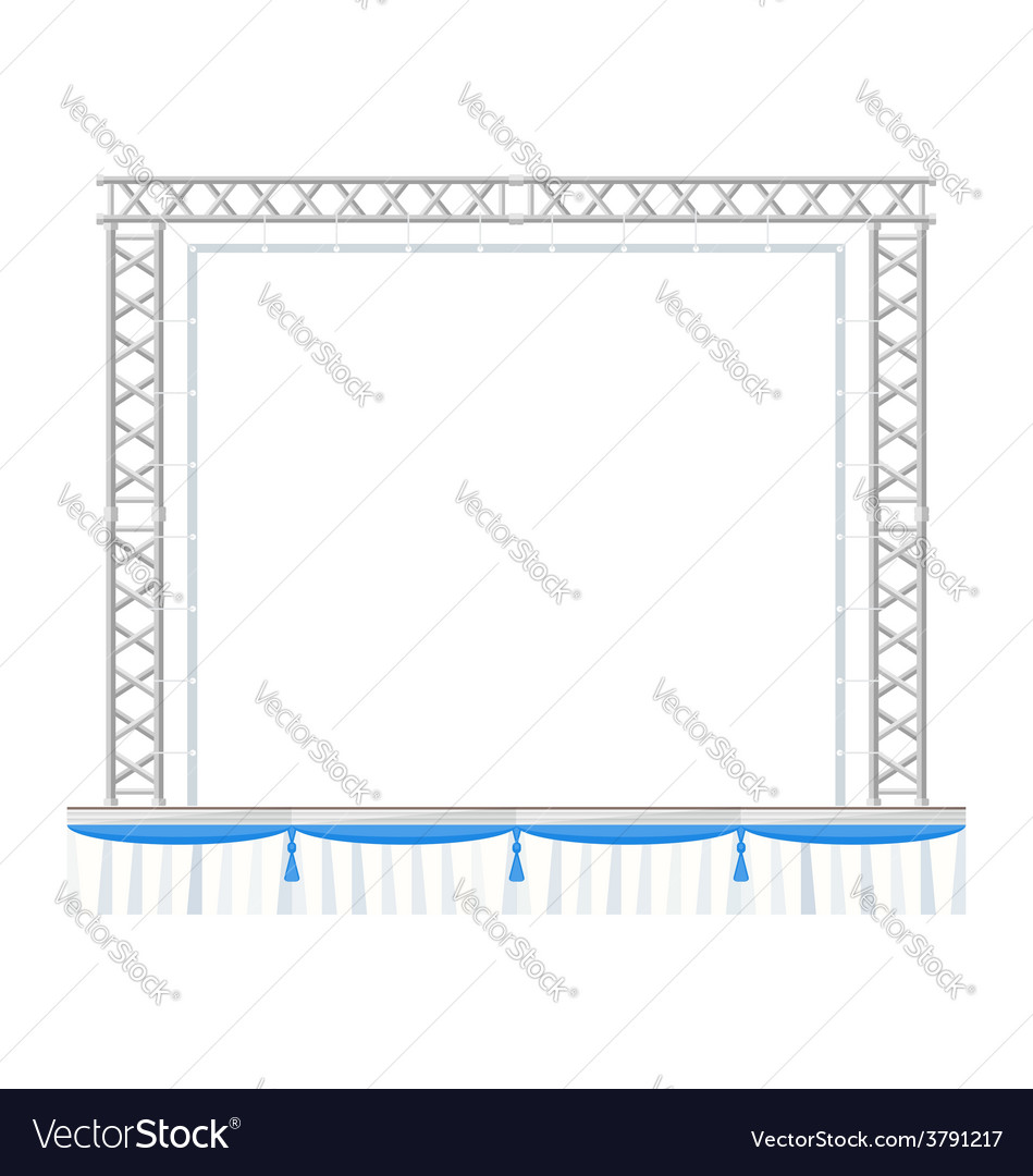 Color flat design sectional concert metal stage vector | Price: 1 Credit (USD $1)