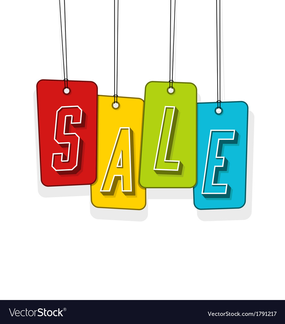 Colorful gift tags or price labels wording sale vector   Price: 1 Credit (USD $1)
