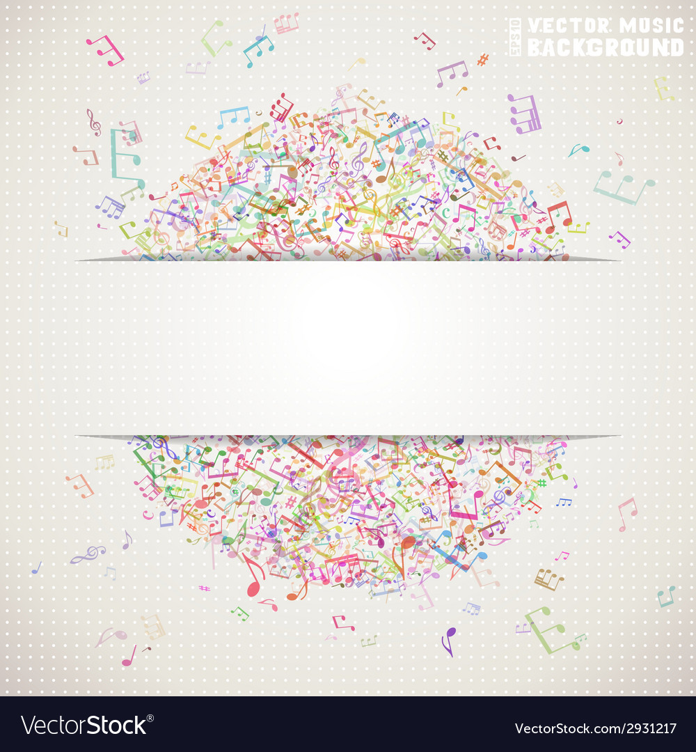 Colorful square music background with white stripe vector | Price: 1 Credit (USD $1)