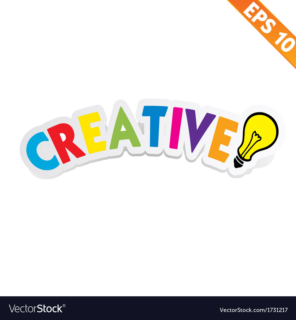 Creative sticker - - eps10 vector | Price: 1 Credit (USD $1)