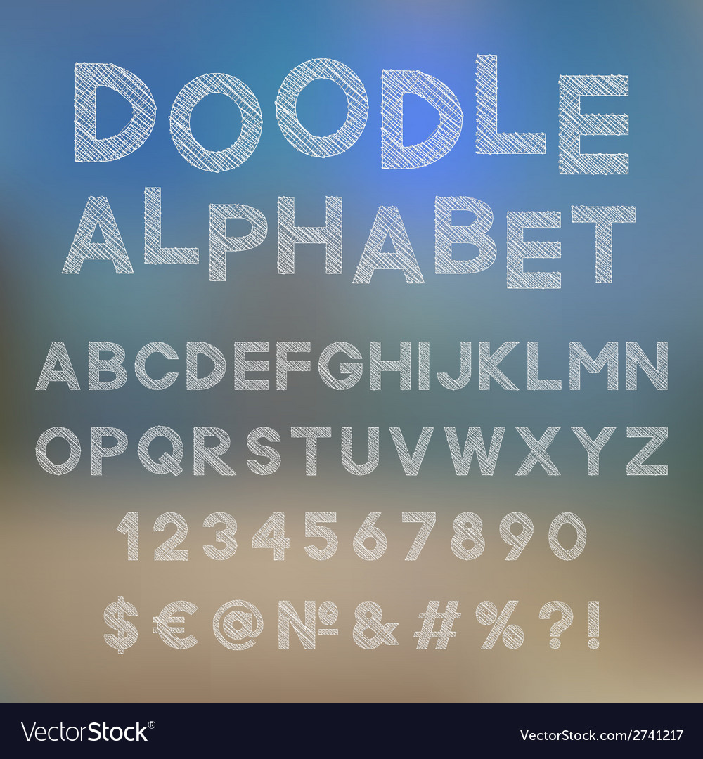 Decorative doodle alphabet vector | Price: 1 Credit (USD $1)