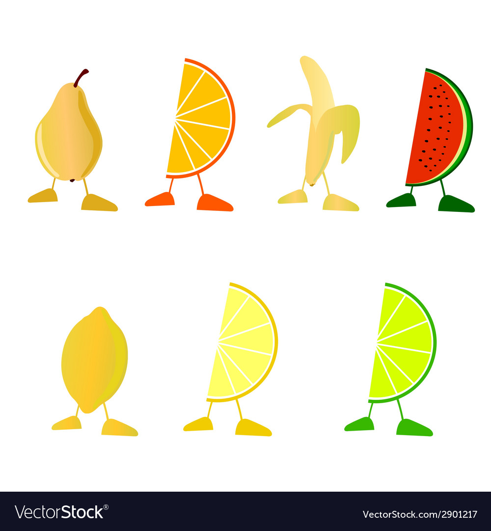 Fruit with legs vector | Price: 1 Credit (USD $1)
