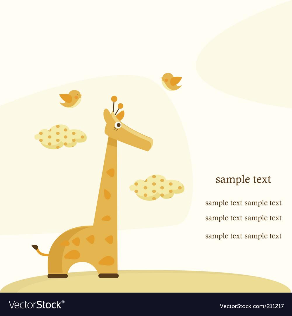 Giraffe background vector | Price: 1 Credit (USD $1)
