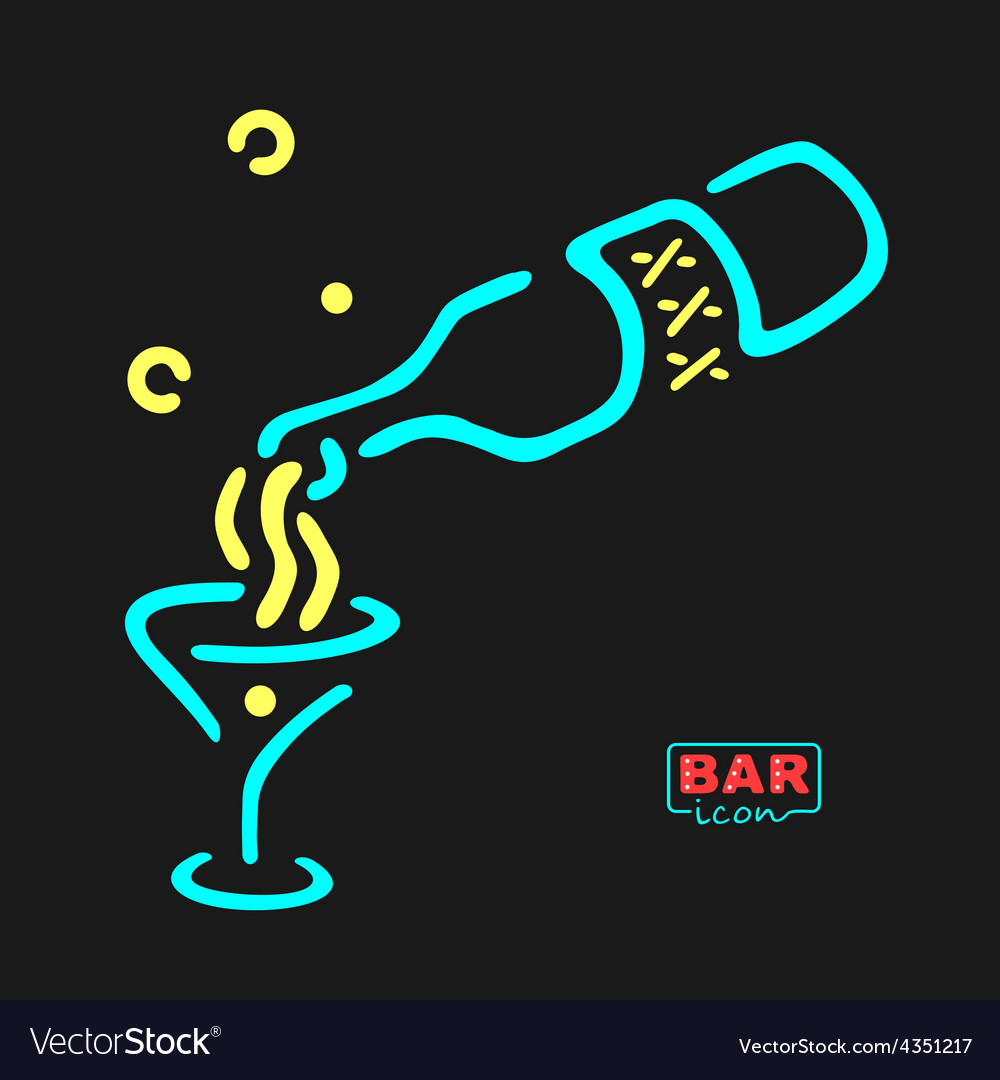 Neon bar symbol vector | Price: 1 Credit (USD $1)