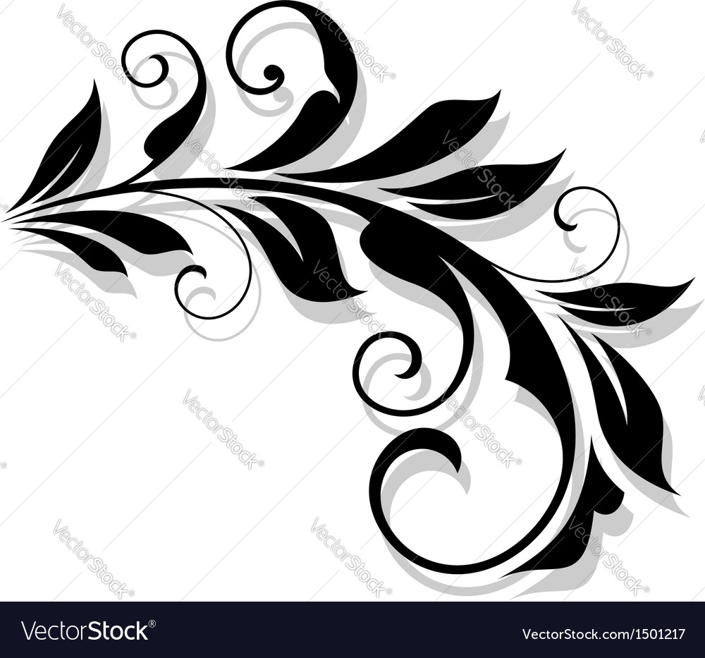 Retro flourish element vector | Price: 1 Credit (USD $1)