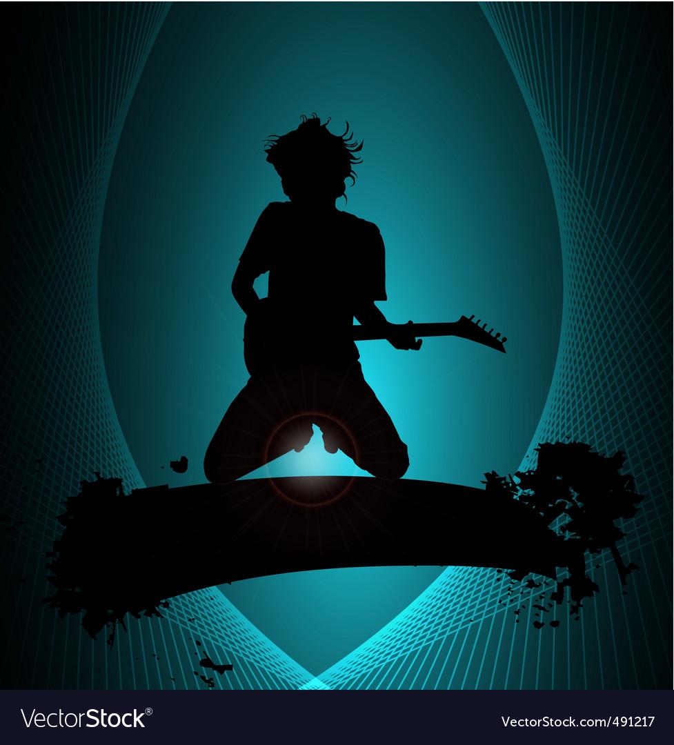Rock musician poster vector | Price: 1 Credit (USD $1)
