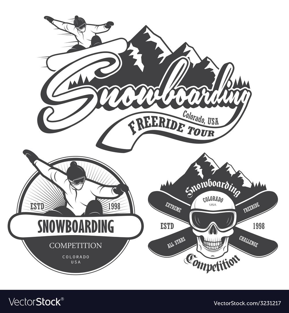 Snowboard 1 vector | Price: 1 Credit (USD $1)