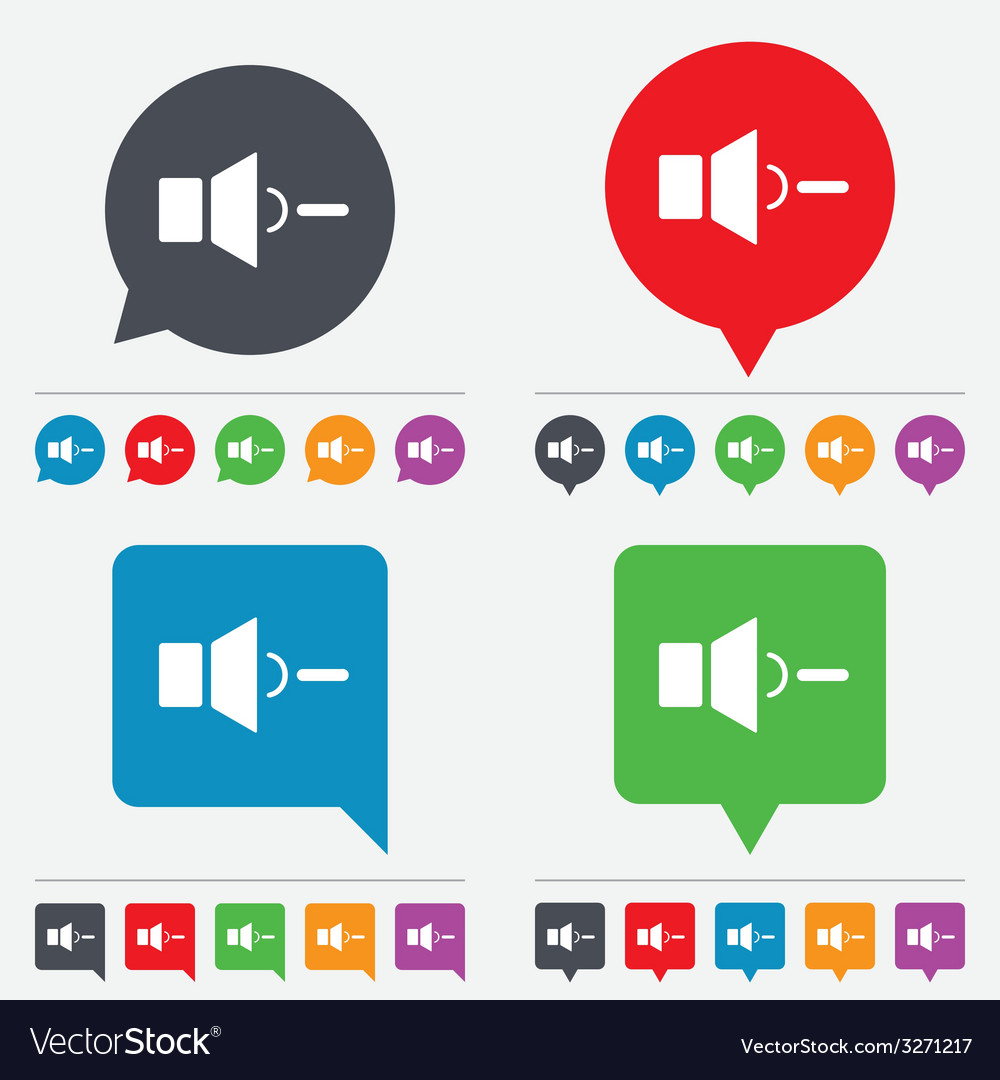 Speaker low volume sign icon sound symbol vector | Price: 1 Credit (USD $1)