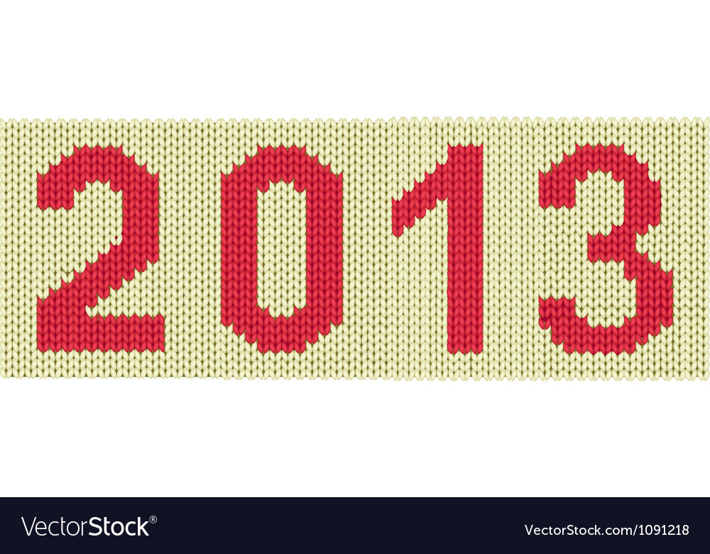 2013 woven numbers vector | Price: 1 Credit (USD $1)