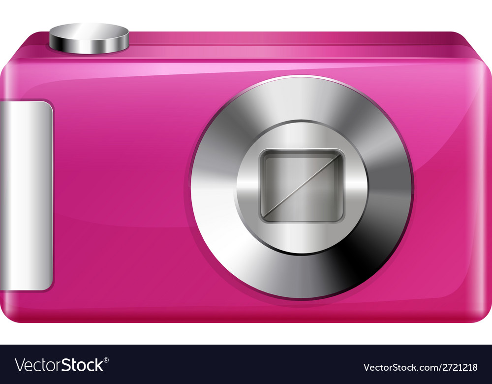 A pink camera vector | Price: 1 Credit (USD $1)