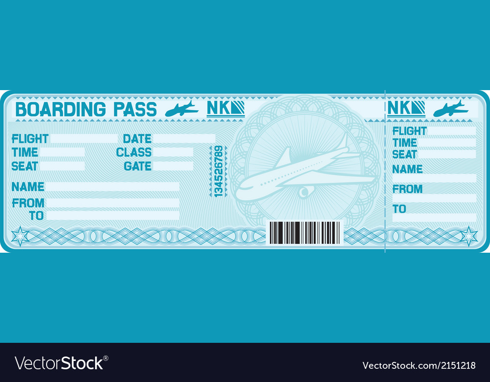 Airline boarding pass tickets vector | Price: 1 Credit (USD $1)