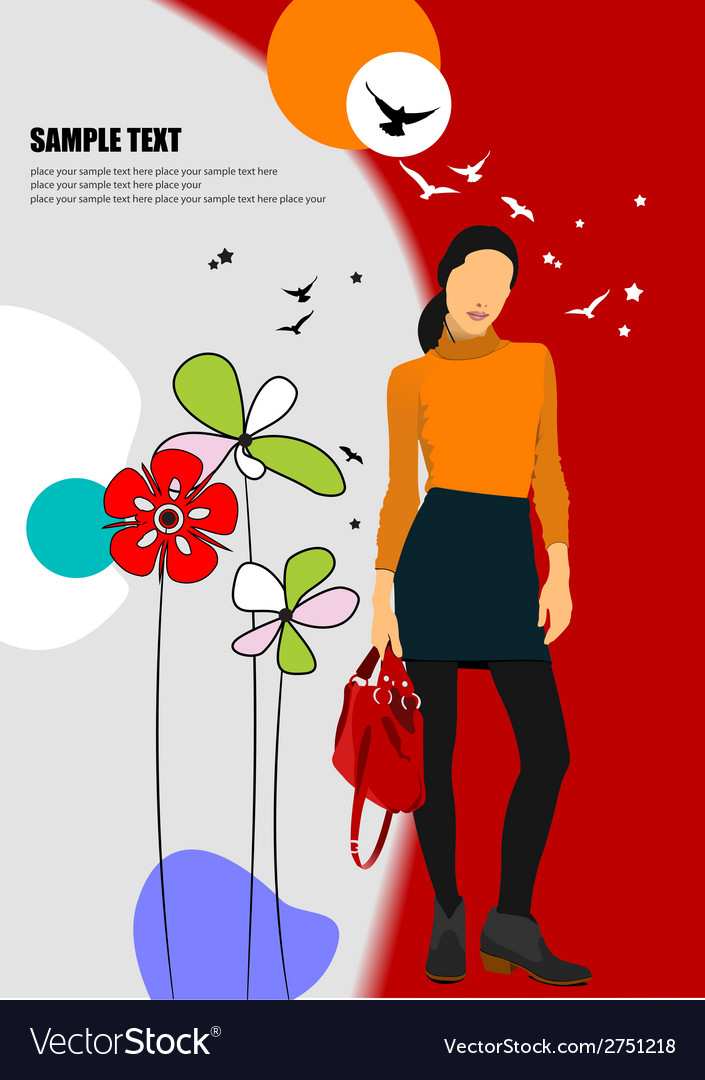 Al 0708 woman poster 01 vector | Price: 1 Credit (USD $1)